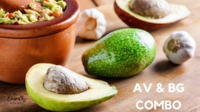 avocado and black garlic